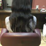 毛先カットと炭酸泉+ミストでまとまりある髪にする