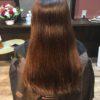 髪をのばし中は梳かずにトリートメントカットと炭酸泉でジャブジャブ流します