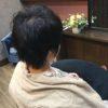 髪が伸びるのが早いので前回よりも短く