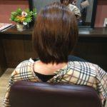 梳かれ過ぎていた髪にストレートパーマをかけて1か月後