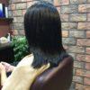ハネやすい長さには毛先に縮毛矯正