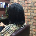 伸びにくい髪には2度漬け矯正、3か月後