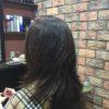 膨らむ髪に段をいれて動きと骨格補正